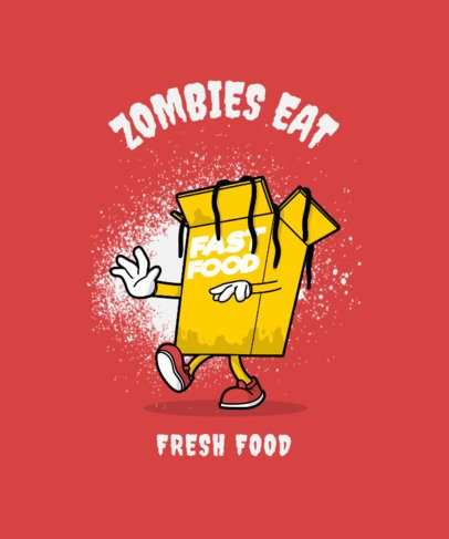 Cool T-Shirt Design Creator with a Zombie Noodles Box 3008b-el1