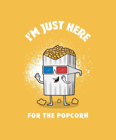 T-Shirt Design Maker Featuring a Cool Box of Popcorn 3008e-el1
