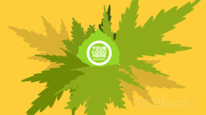 Intro Maker for a Recreational Cannabis Business Featuring an Animated Logo Reveal 2326