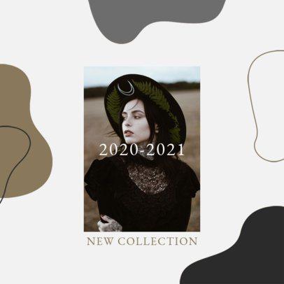 Instagram Post Design Template for Clothing Brands Featuring an Autumn Color Palette 3002c-el1