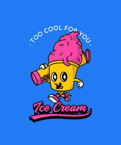 Cartoonish T-Shirt Design Template With Food Characters 3006-el1
