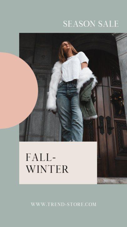 Instagram Story Generator for a Fall/Winter Season Sale 2998d-el1