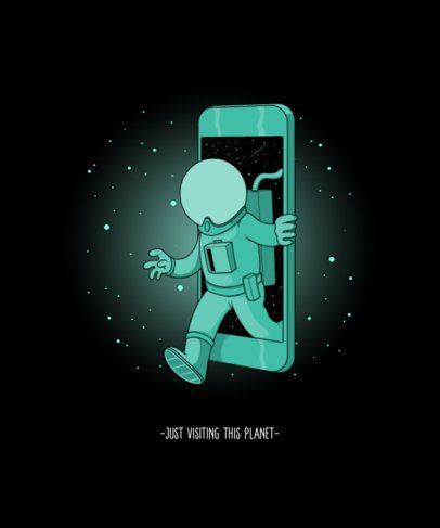T-Shirt Design Maker with a Graphic of a Smartphone and an Astronaut 2990c-el1