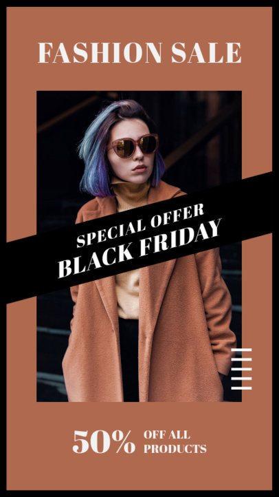 Instagram Story Creator for a Black Friday Fashion Sale Promo 2980b-el1