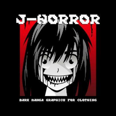 Horror-Themed Logo Maker with Anime-Inspired Graphics 3723
