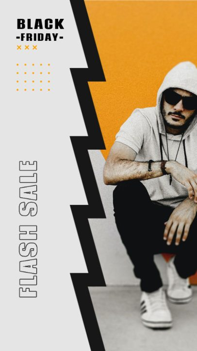 Instagram Story Design Template Featuring a Black Friday Sale Copy 2978a-el1
