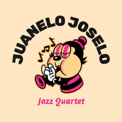 Logo Generator for a Jazz Musician with a Cartoonish Graphic 3735f