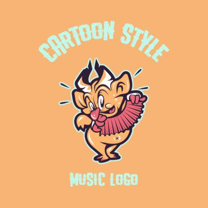 Cartoonish Logo Generator Featuring a Character Playing Music 3735e