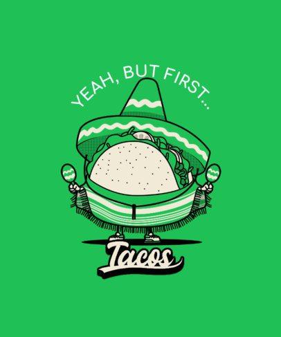 T-Shirt Design Maker for Mexican Food Enthusiasts 3006d-el1