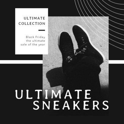 Black Friday- Themed Instagram Post Maker for a Sneakers Sale 2982b-el1