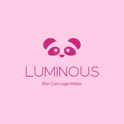 Dropshipping Logo Template for a Skincare Line Featuring a Cute Panda Graphic 3727p