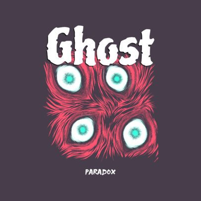 Horror-Themed Logo Generator Featuring Scary Eyes Graphics 3723h