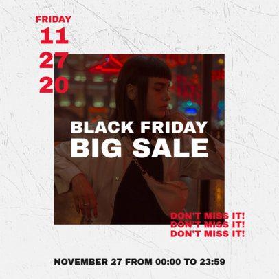 Instagram Post Maker for a Black Friday-Only Sale 2986d-el1