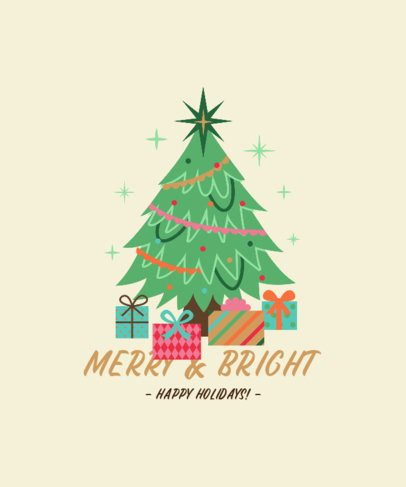 Christmas T-Shirt Design Generator with a Sparkling Tree Illustration 3011f