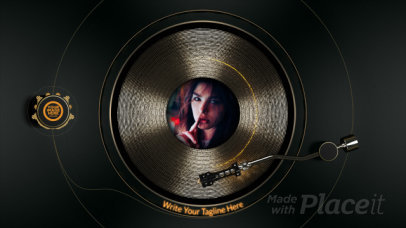 YouTube Ad Video Creator for a Musician Featuring a Spinning Record 2333-el1