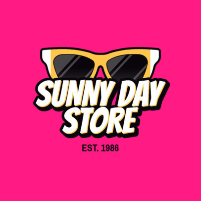 Dropshipping Logo Template with a Retro Aesthetic for a Sunglasses Company 3745