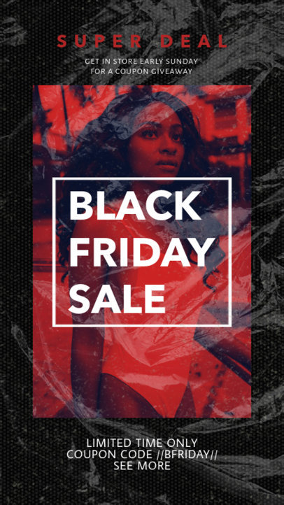 Black Friday Instagram Story Template for a Limited Time Offer 3028