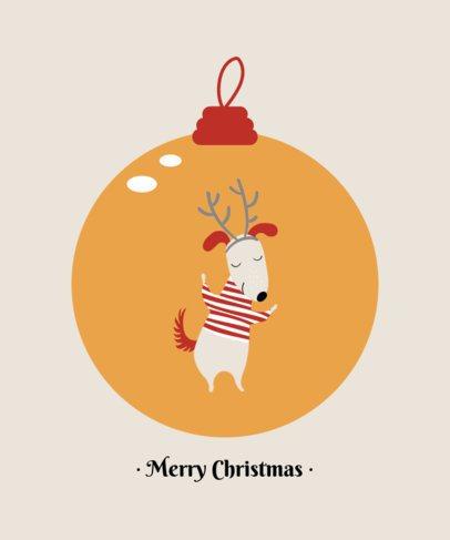 Illustrated T-Shirt Design Maker Featuring Cute Dogs Inside Christmas Ornament Balls 3031-el1