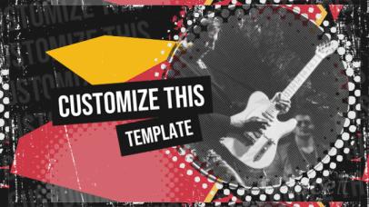Music-Themed Slideshow Video Maker for Rock Artists 2341-el1