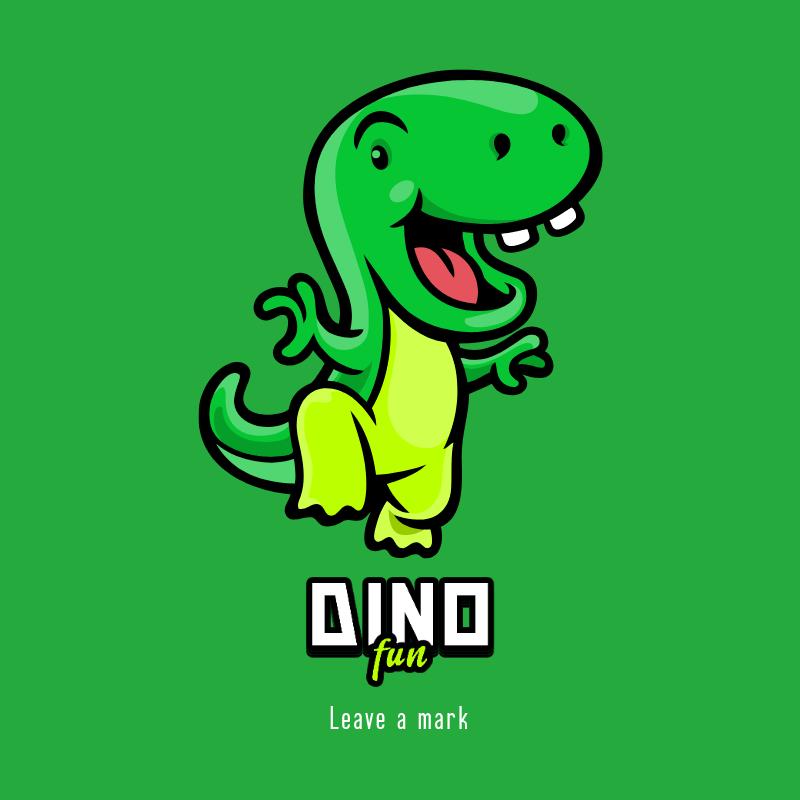Online Logo Creator Featuring a Sweet Dinosaur 3055a-el1