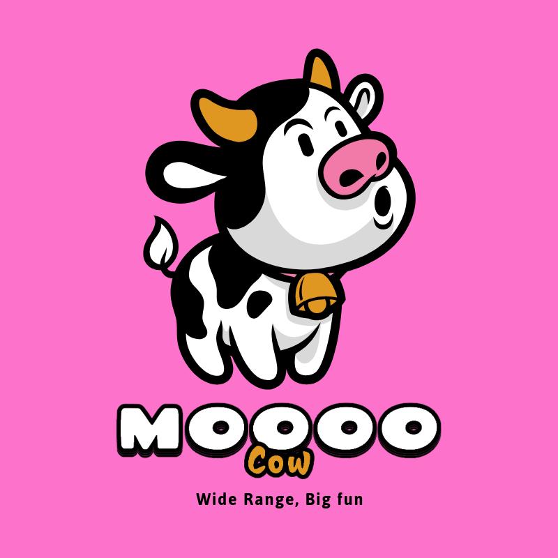 Logo Maker Featuring a Cute Cow Graphic 3055c-el1
