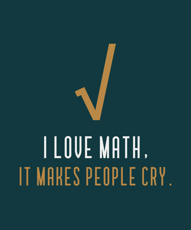 Math Club T-Shirt Design Template with a Sarcastic Quote 3053c