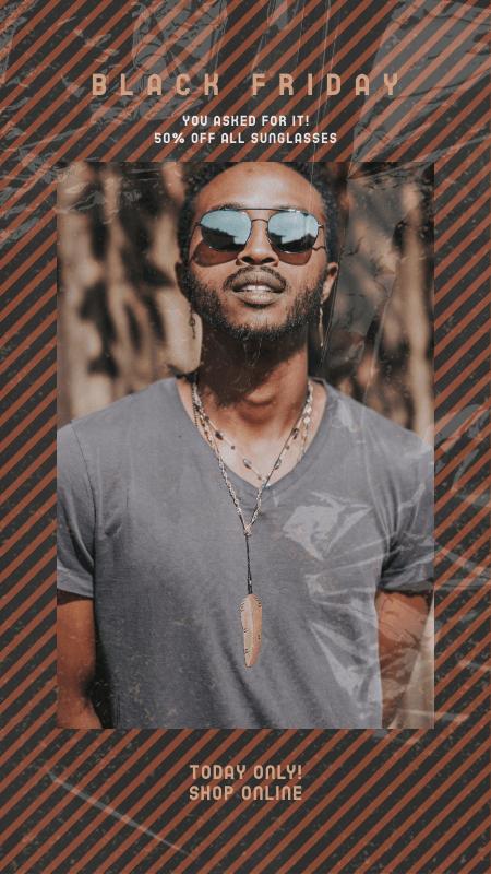 Black Friday Instagram Story Generator for Sunglasses Deals 3028c