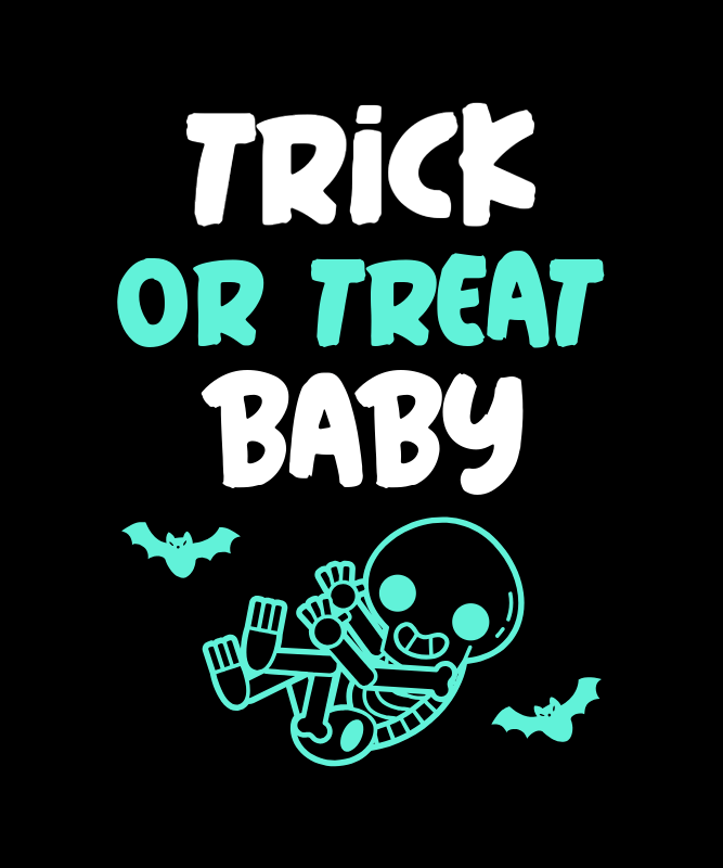 Halloween-Inspired T-Shirt Design Creator for a Fun Pregnancy Announcement 3038i