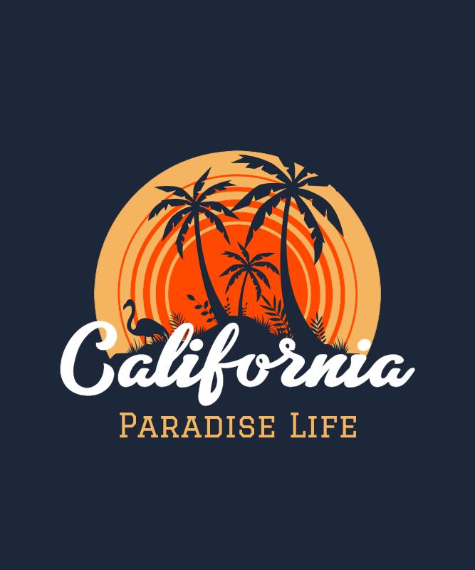 T-Shirt Design Creator with a California Design 3042b