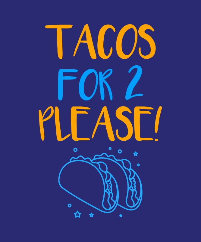 T-Shirt Design Generator for Foodie Moms with a Taco Clipart 3038m