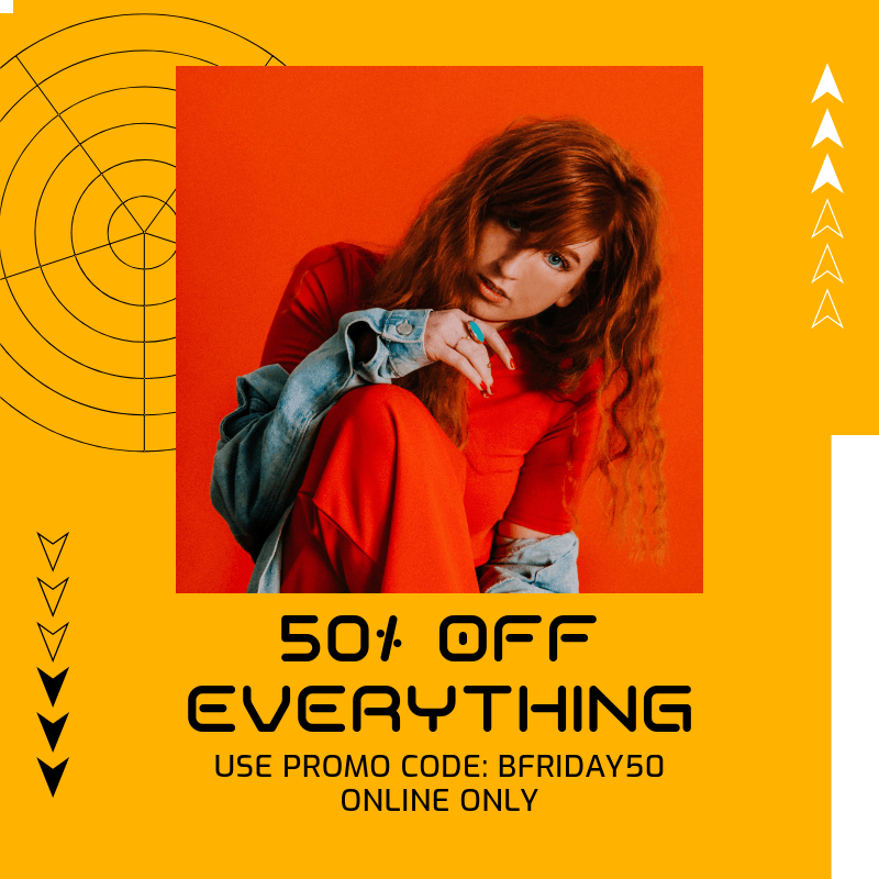 Instagram Post Template Featuring a Special Black Friday Promo Code 3030d