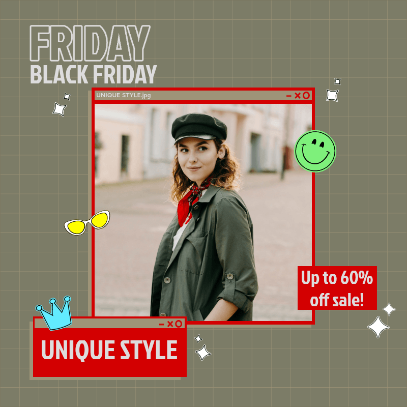 Cool Customizable Instagram Post Maker for a Store's Black Friday Sale 3029b