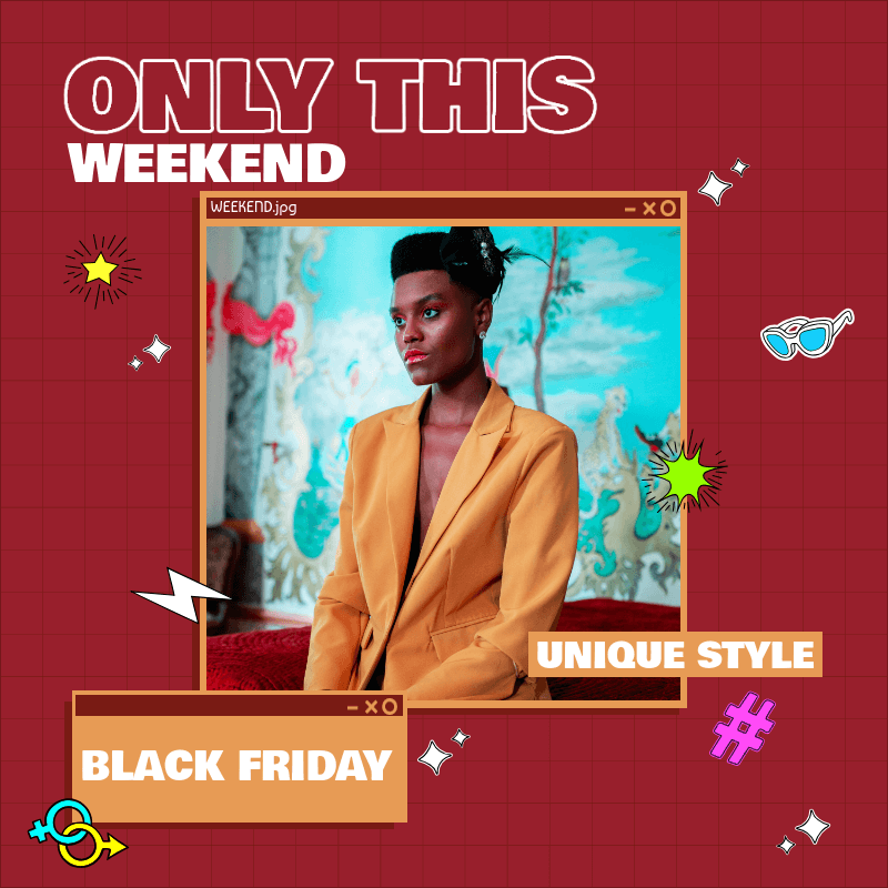 Instagram Post Template for a Black Friday Weekend Sale 3029f