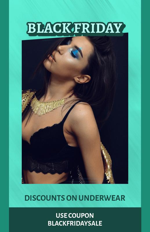 Online Flyer Creator for Black Friday Discount on Underwear 3033b