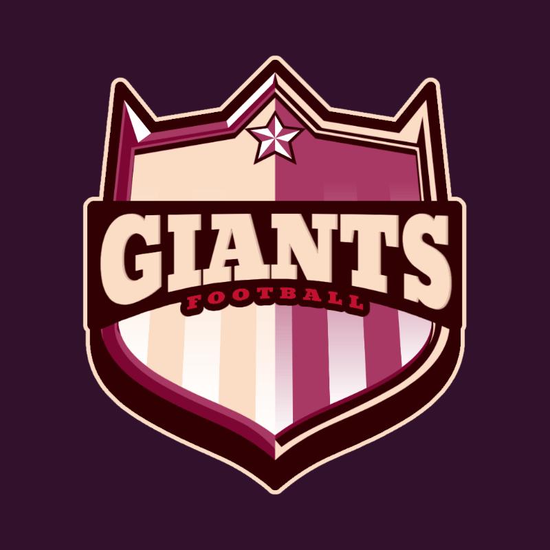 Logo Template for a Sports Team with a 3D Metallic Emblem 3757b