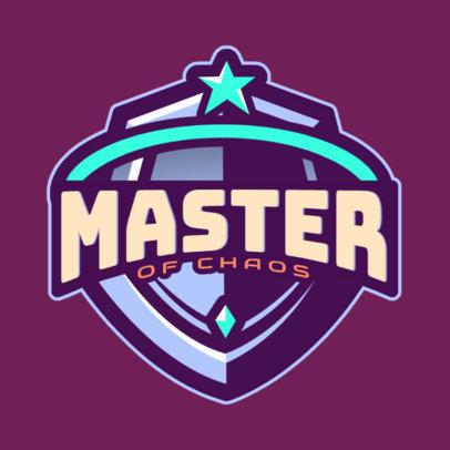 Logo Maker for a Gamer with an Epic Shield Emblem 3757g