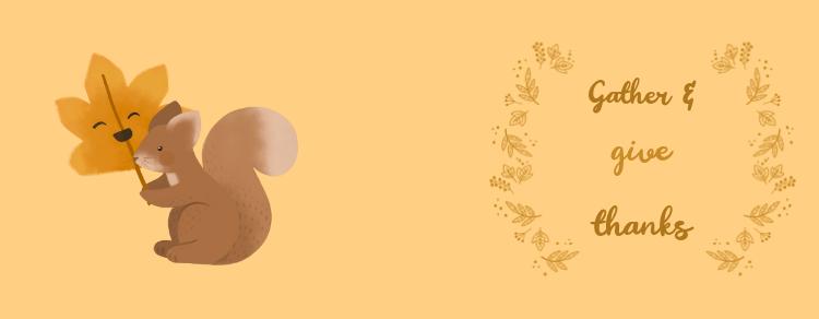 Thanksgiving Mug Design Template Featuring a Cute Squirrel Illustration 3041g