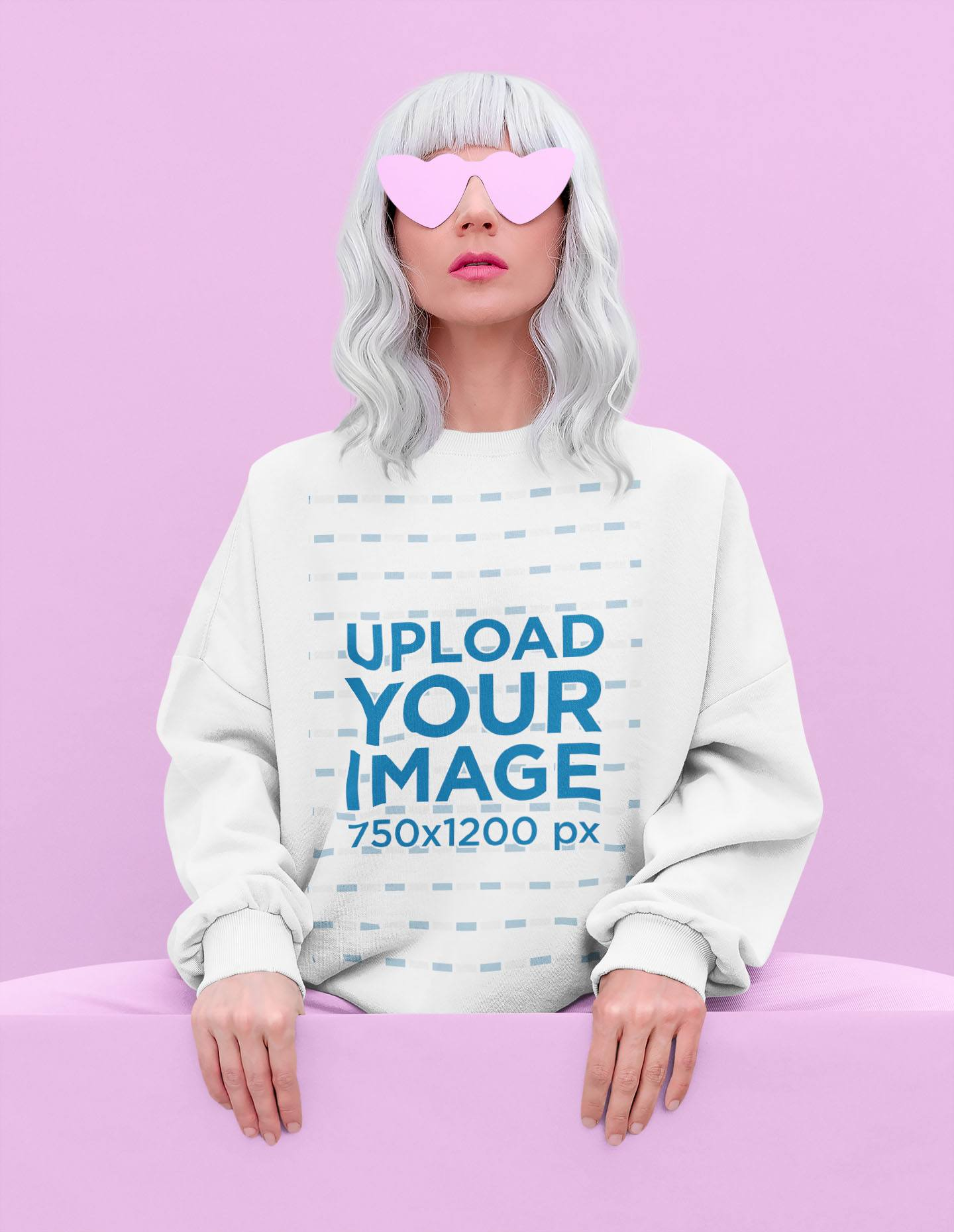 Sweatshirt Mockup of a Woman with an Edgy Look Posing at a Studio 43673-r-el2