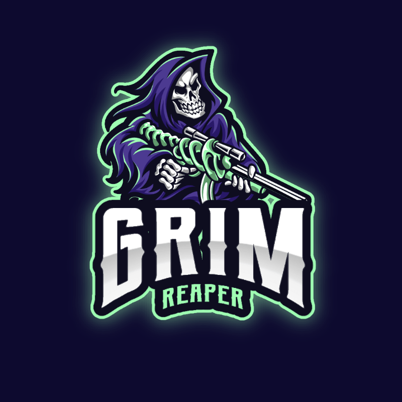 Gaming Logo Generator Featuring a Sniper Skeleton 2943g-el1