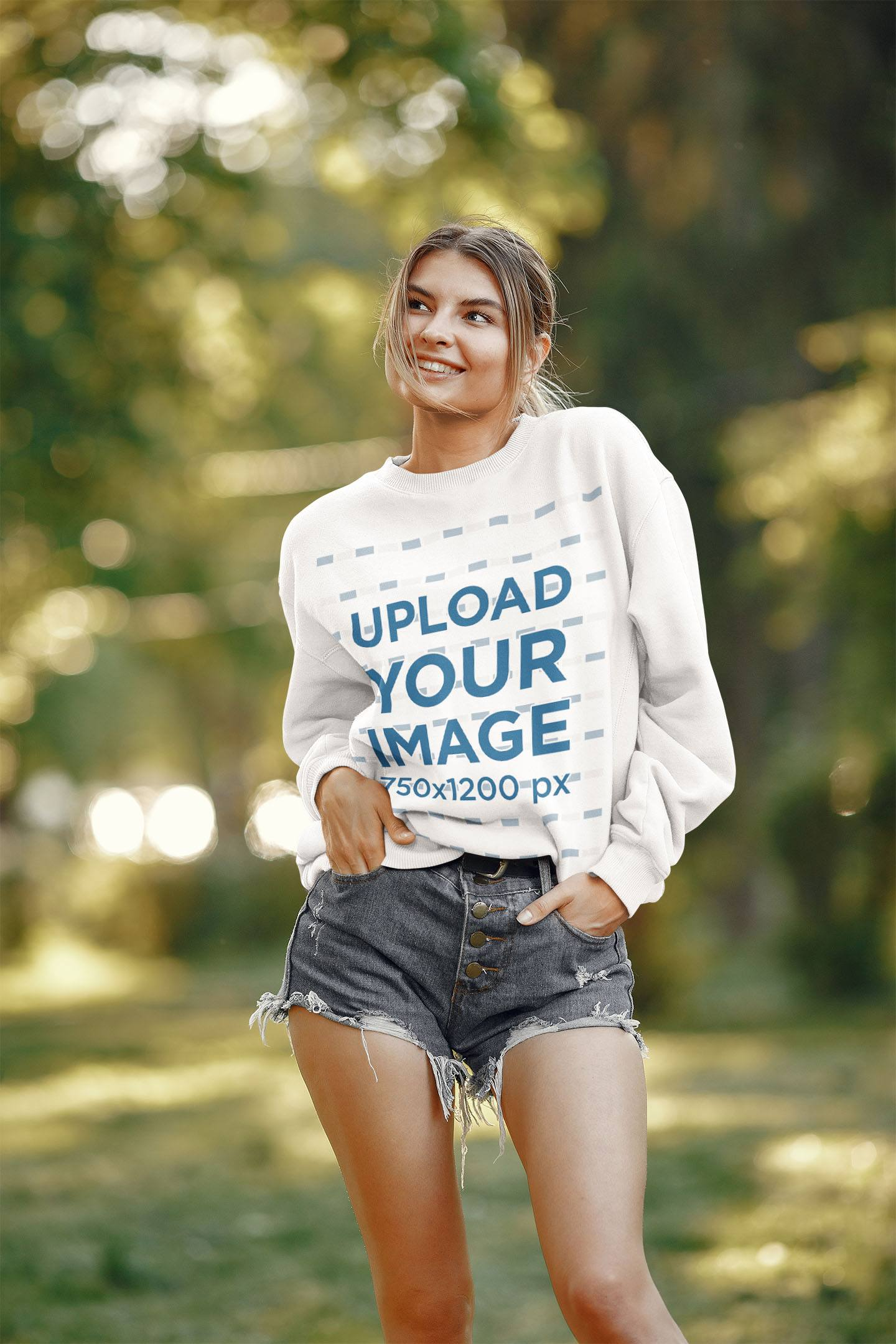 Sweatshirt Mockup of a Happy Woman Posing With Her Hands in Her Pockets 41021-r-el2