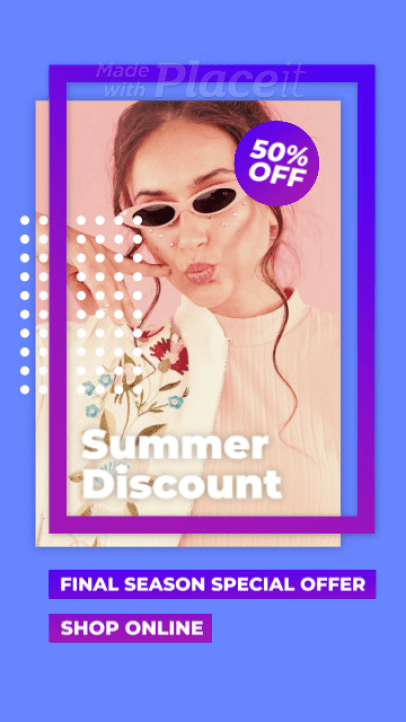 Modern Instagram Story Video Maker for a Season Sale Ad 2374-el1
