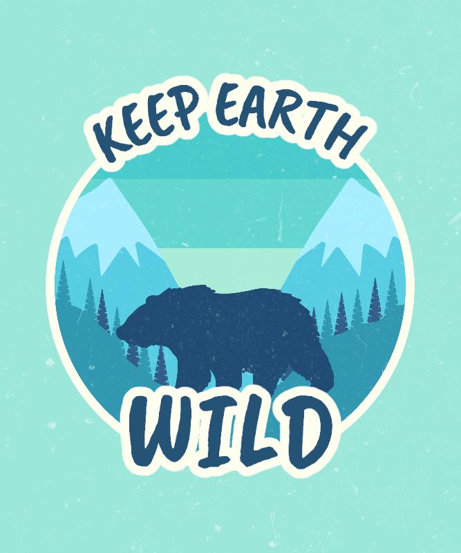 Retro T-Shirt Design Creator for Nature Enthusiasts 3044b