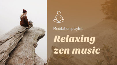 Wellness-Themed YouTube Thumbnail Template for a Zen Music Playlist 3064i