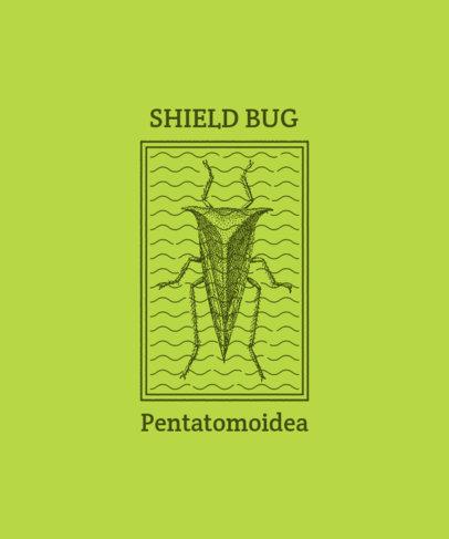 Vintage T-Shirt Design Generator Featuring a Shield Bug Illustration 3098b-el1