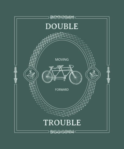 Fun T-Shirt Design Creator with a Graphic of a Vintage Bicycle 3088e-el1