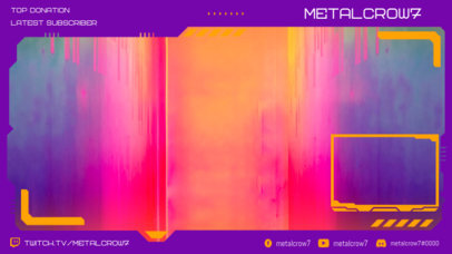 Futuristic Twitch Overlay with Webcam Frame Design Template 3058d