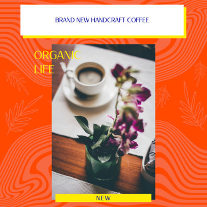 Instagram Post Design Template for a Multi-Level Marketing Coffee Business 3065j