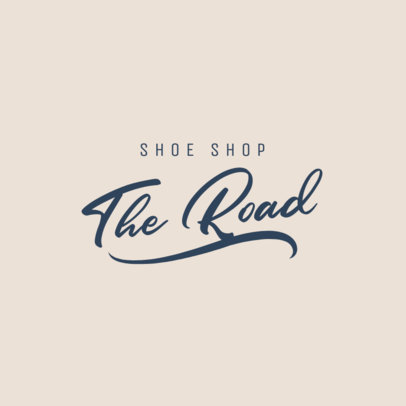 Customizable Logo Maker for a Shoe Shop Featuring a Decorative Typography 3762h