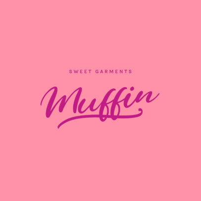 Typography Logo Maker for a Girly Clothing Brand 3762j