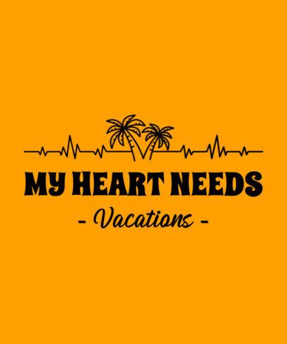 Summer T-Shirt Design Generator Featuring Electrocardiogram Palm Trees 3076d
